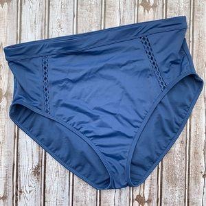 Beach Betty Blue High Waist Bikini Bottom XL